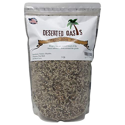 Premium Lithop Soil - Fast Draining Substrate Based Coarse Mix (3 Quarts) ()