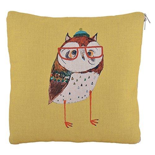 eDealMax Lin Owl Motif Chaise de Bureau Canap Dcor Voiture Taille Protect Blanket Coussin Jaune