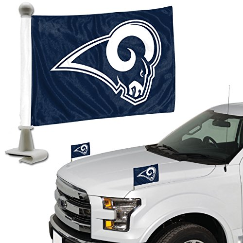 Promark NFL Los Angeles Rams Flag Set 2Piece Ambassador Stylelos Angeles Rams Flag Set 2Piece Ambassador Style, Team Color, One Size by Promark