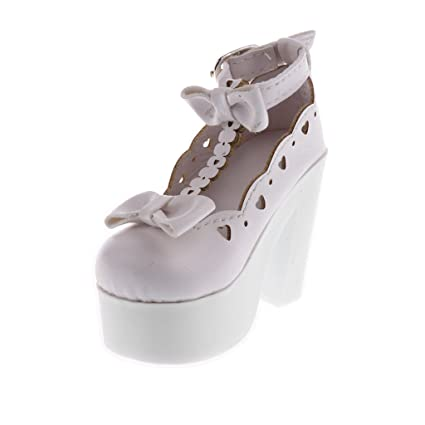 993ed3fa260f Image Unavailable. Image not available for. Color  Baoblaze Cute Doll  Bowknot Strappy Platform PU Leather ...
