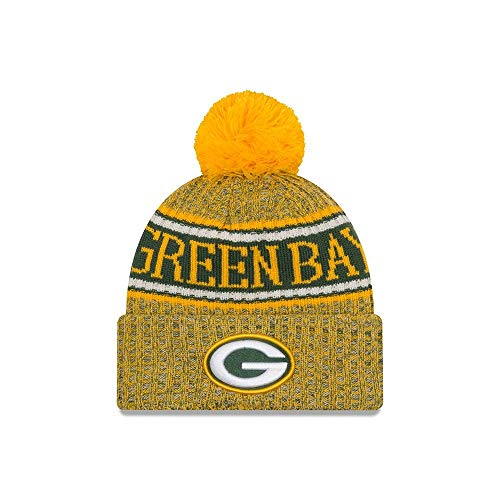 (New Era 2018 NFL Green Bay Packer Reverse Sport Stocking Knit Hat Winter Beanie)
