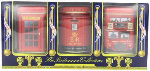 Britannia Collection - Ahmad Tea Britannia Collection, Loose Tea, Variety Pack of Three Flavors, 3-Count Box of 0.88-Ounce Tins (Pack of 4)