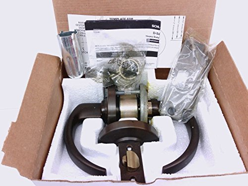 Schlage ND Series Commercial Cylindrical Lock Lever ND50LD SPA 613 ND50SPA613 Sparta 613 US10B Dark Oxidized Satin Bronze Oil Rubbed Entrance Office Full Size Interchangeable Core Not Included by Schlage Lock Company