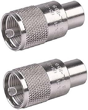 8 NEW PL 259 COAX CONNECTOR SILVER BODY TEFLON DIELECTRIC RG 8  213 9913 HAM CB