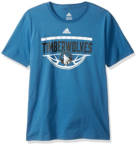 - NBA Youth 8-20 Minnesota Timberwolves Balled Out Short Sleeve Tee-Capital Blue-L(14-16)