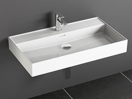 Aqua Bagno Loft Air Design Wash Basin/Basin Attachment 80 x 46 cm ...