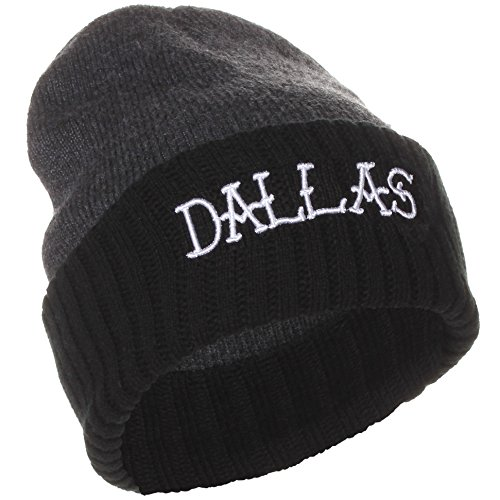 Skull With Cowboy Hat (American Cities Dallas Texas Winter Knit Hat Cap Beanie)