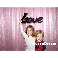 QueenDream shimmer backdrop 7ftx7ft pink sequin backdrop product photography backdrop