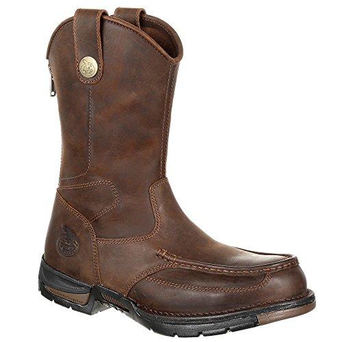 Boot M GB00246 Brown Men Steel Georgia Dark Toe Pull Work Athens 10 On dqFwgZ