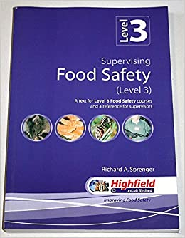 Supervising Food Safety Level 3 A Text For Level 3 Food