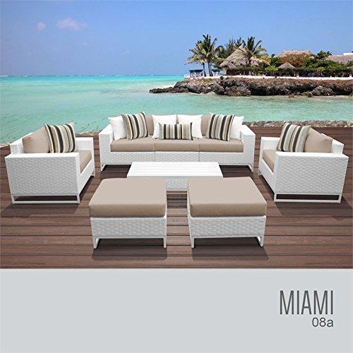 TK Classics MIAMI-08a-WHEAT Miami Seating Patio Furniture, Wheat (Patio Furniture Clearance Miami)
