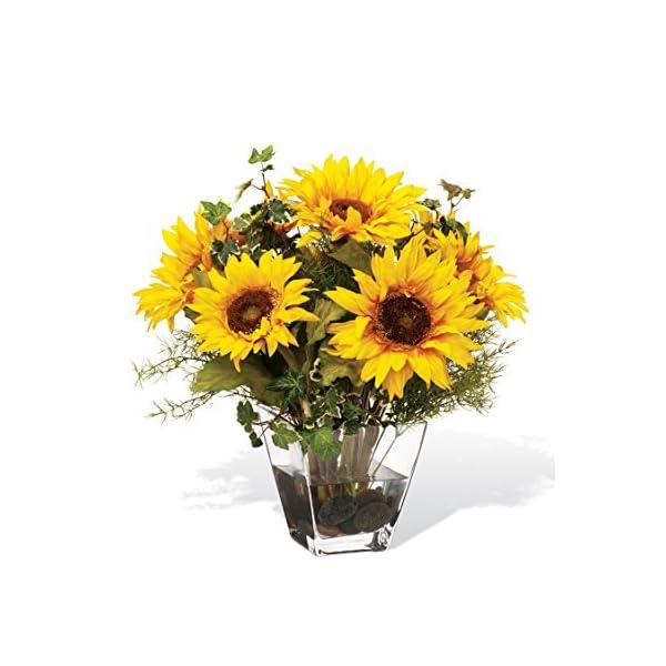 Petals Sunflower Silk Centerpiece