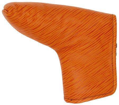 スイ湾語クラブのエースゴルフオレンジLizardレザーパター用ヘッドカバー