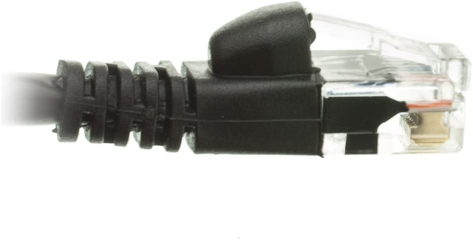 ACL 4 Feet RJ45 Snagless//Molded Boot Black Cat5e Ethernet Lan Cable 4 Pack
