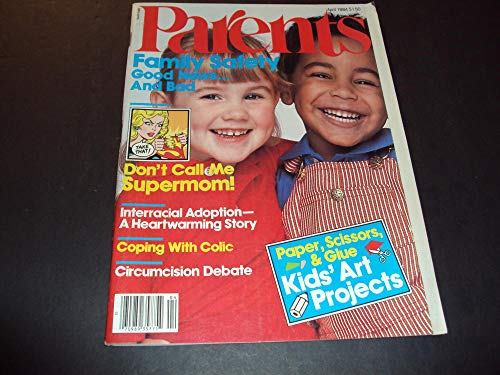 Parents' Magazine Apr 1984 Kids Art Projects Paper, Scissors and - Magazine Scissors