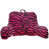 Brentwood Originals Zebra Fur Bedrest, Hot Pink