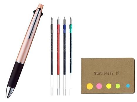 Uni Jetstream Ballpoint Pen 0.38mm Black Ink Pastel Pink Japanese Stationery