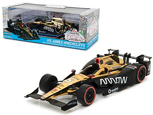 Maisto 2017 Toyota Grand Prix of Long Beach Winner Car #5 James Hinchcliffe/Schmidt Peterson Motorsports, Arrow 1/18 Model Car by Greenlight by Maisto (Image #1)