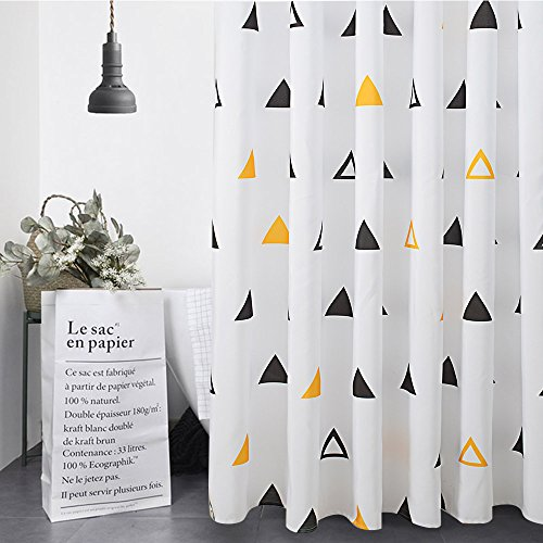 Duet Pattern - Fabric Shower Curtain Polyester Geometric Pattern Mold Resistant Waterproof for Bathroom (Archimedes)