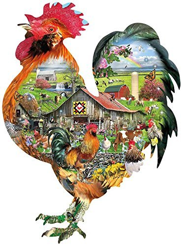 SunsOut Rule The Roost a 1000-Piece Jigsaw Puzzle Inc. (Best Roost For Chickens)