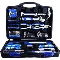 vastar 102piezas Home Repair Kit de herramientas, Kit de herramientas para el hogar General de Hogares de mantenimiento con caja de herramientas de plástico caso de almacenamiento