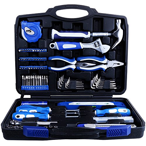 Vastar 102 Piece Home Repair Tool Kit, General Household Tool Kit for Home Maintenance with Plastic Toolbox Storage Case - Home Repair Tool Kit