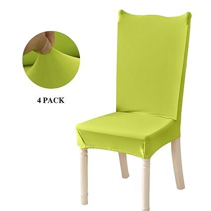 Feilaxleer Fundas para sillas Comedor elásticas Universal Pack de 4,Cubiertas para sillas Respaldo Alto para hogar, Hotel, Banquetes