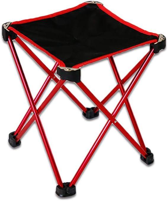Mini silla plegable al aire libre, silla de playa portátil y ultra ligera de aleación de aluminio para acampar, caballo pequeño, silla de pesca con cuatro ángulos, senderismo, camping, patio, aventura