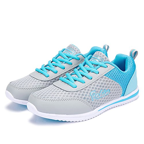 Light Blue Tennis Shoes - Women's Casual Athletic Running Shoes Lightweight Comfort Breathable Sneaker