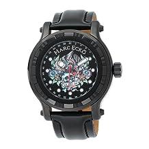 Marc Ecko The Flyaway Black Leather Skull Dial Men's Watch #E16580G1