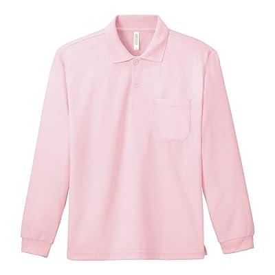 (グリマー)glimmer メッシュ素材で速乾性に優れた 長袖 ドライ ポロシャツ (胸ポケット付き)