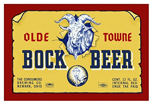 """Global Gallery Vintage Booze Labels Olde Towne Bock Beer-Giclee on Paper Print-Unframed-24 1/8 x 36 in Image Size, 24 1/8"""" x 36"""""""