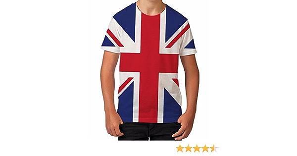 Camiseta para Chicos de Impresión Total Bandera de Reino Unido Prendas de Verano Top Impreso