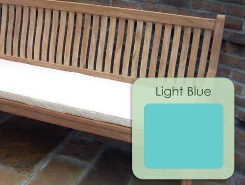 3 plazas (1, 4 m/140, 21 cm) banco de jardín clásico - sólo - cojín azul claro: Amazon.es: Jardín