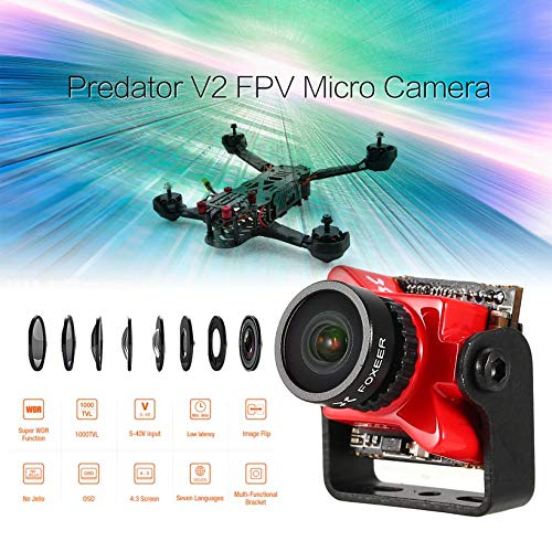 Wikiwand Foxeer Predator V2 FPV Micro Camera Cam with 1.8mm Lens OSD 1000TVL WDR NTSC by Wikiwand (Image #2)