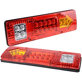 digital light Pair Trailer Semi Rig Truck Bus LED Commercial 12v LED Tail Lights Taillights
