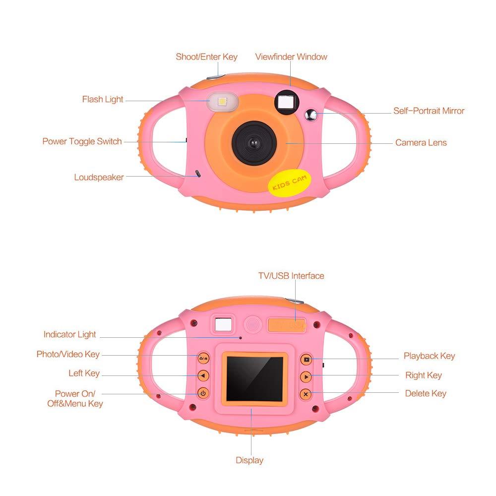 Camara Fotos Ni/ños C/ámara Digital para Ni/ños 1080P HD Recargable Camara Fotos Infantil 1.77 Pantalla a Color Videoc/ámara para Ni/ños Cumplea/ños Navidad A/ño Nuevo Regalo de para Ni/ñas Ni/ños