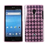 Fosmon Checker Design TPU case for Sony Xperia Ion - (Light Pink)