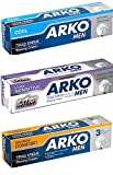 Arko Shaving Cream Variety Pack, Extra Sensitive/Maximum Comfort/Cool, 3 Count