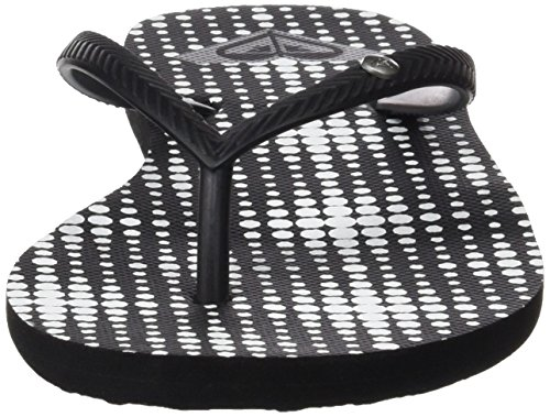 Roxy Bermuda J Sndl, Sandalias Flip-Flop para Mujer Negro (Black /             White Print)