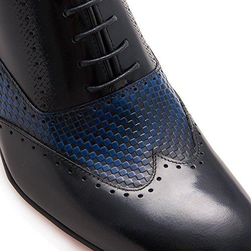 Zerimar Hoogte Verhogende Lift Schoenen Voor Heren Toevoegen +2,8 In 100% Lederen Schoenmaat: Us 9 - Eu 42 Kleur Zwart