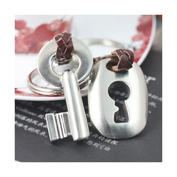 8499f11e80a87 Maycom Creative Fashion Romantic Couple Keychain Key Chain Ring Keyring Key  Fob for Valentine s Day Gift
