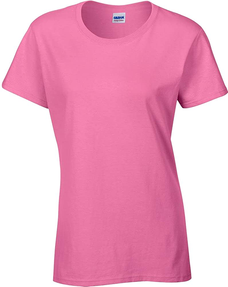 Gildan Ladies Taped Neck & Shoulders Short Sleeve Heavy Cotton Women\'s T-Shirt