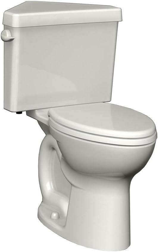 American Standard Cadet 3 Powerwash Triangle Right Height 2-Piece 1.6 GPF Round Toilet in White
