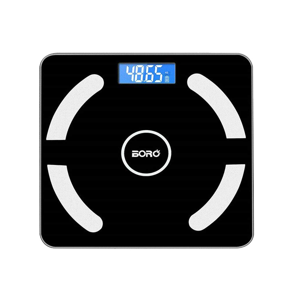 LIOOBO Smart bluetooth body weight scale digital fat scale portable body analyzer scale - no battery included (black) by LIOOBO