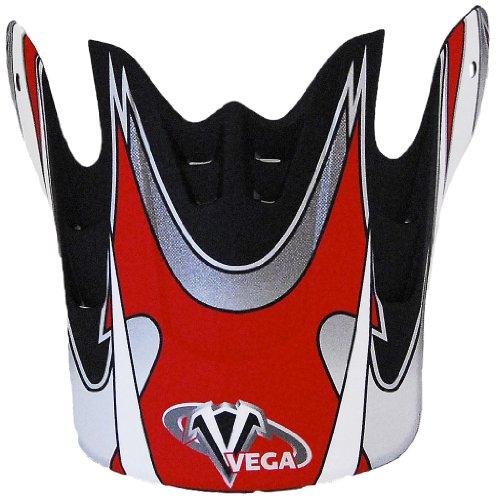 Vega Graphic Replacement Visor for Mojave Jr. Off-Road Helmet (Red)