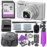 : Canon PowerShot SX730 (Silver) Digital Camera with 32GB SD Memory Card + Accessory Bundle
