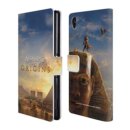 Official Assassin's Creed Bayek Sphinx Origins Key Art Leather Book Wallet Case Cover for Sony Xperia Z3