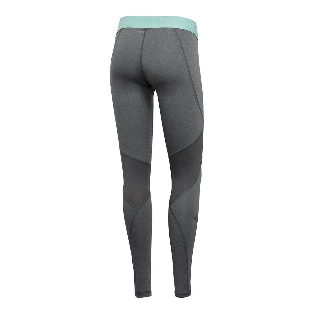 dcb16ead568e4 Amazon.com: adidas Training Alphaskin Sport Long Logo Tights, Dark Grey  Heather/Four/Clear Mint: Sports & Outdoors