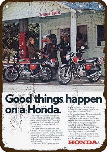 1974 Honda Cb-550 /& Cb-750 K4 Motorcycle Vintage Look Replica Metal Sign 7 x 10
